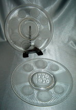Lot (2) IMPERIAL Hand Crafted Glass by LENOX Bicentennial Textured Coin Plates - $29.30