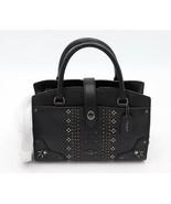 Coach Bandana Rivets Mercer 24 Black Grain Leather Satchel Convertible B... - $245.00