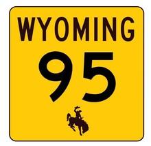 Wyoming Highway 95 Sticker R3415 Highway Sign - $1.45+