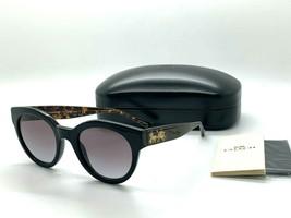 NEW Coach  Sunglasses HC8265F (L1078) 500211 BLACK / TORTOISE  52-21-140MM - $67.87