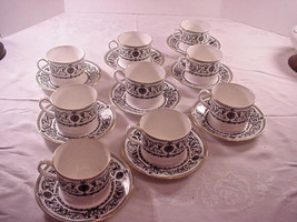 Royal Worcester Padua Cup and Saucer Flat set of 9 - $98.01