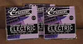 Echosonic Electric Guitar Strings .010 - .046 Nickel wound 3 Sets - $10.45