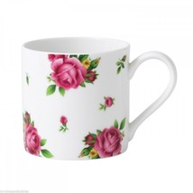 6 COFFEE MUGS ROYAL ALBERT NEW COUNTRY ROSES WHITE MODERN NEW - $65.45