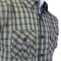 Overdrive Men's Cotton Plaid Button Up Casual Short Sleeve Slim Fit Dress Shirt image 6