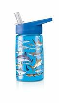 Crocodile Creek Sharks Drinking Bottle, Blue/Tan/White - $19.79