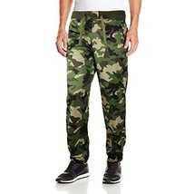 Five Elementz Men's Work Out Gym Camouflage Jogger Sweat Pants (Large, Wood Camo