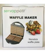 Waffle Maker Nonstick Plate by Servappétit Large Belgian Waffle Grids Ne... - $24.18