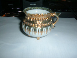 Footed Demitasse Cup Gold White # 12 - $4.93