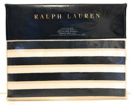 Ralph Lauren Durant Cameron Stripe 200 Thread Count 100% Cotton Flat She... - $98.99