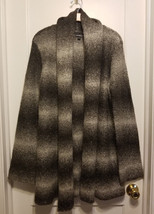 Express Open Front Cardigan Sweater Coat Acrylic Blend, Gray Ombre, L, NWHT - $48.59