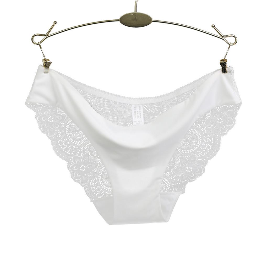 2dcfc6584756e Women sexy lace panties seamless cotton panty Hollow briefs Plus girl  underwear