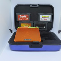 Gameboy Advanced SP Bundle W/ Six Games and Protective Case Tested NO CH... - $56.91