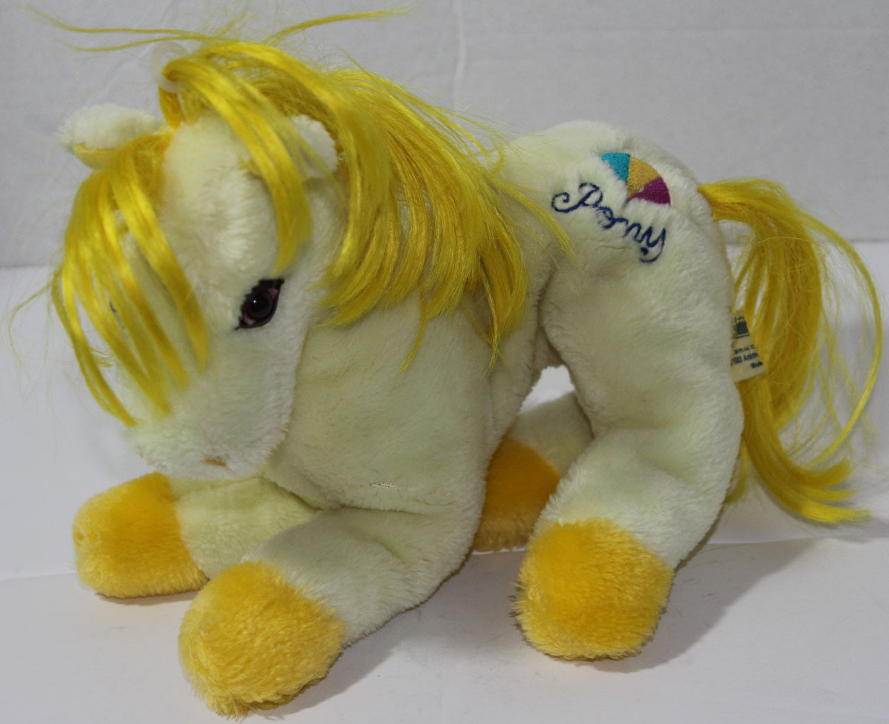 Primary image for Vintage 1983 Animal Toy YELLOW PONY STUFFED PLUSH ANIMAL Soft Horse CUTE
