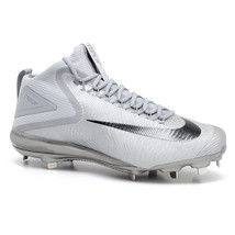 Nike Force Zoom Trout 3 Mid Wolf Gray Mens Size 12 Baseball Cleats 856503 001 - $34.95
