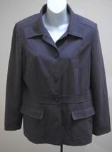 Eddie Bauer 8P Jacket Gray Stretch Pockets Blazer Lined Petites - $19.57