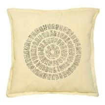 Asian Ancient Stamp Printed Khaki Throw Pillow Cushion Case VPLC_02 Size... - $10.40
