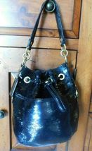 Coach Poppy Black Sequins Drawstring  Bag 17906 image 6