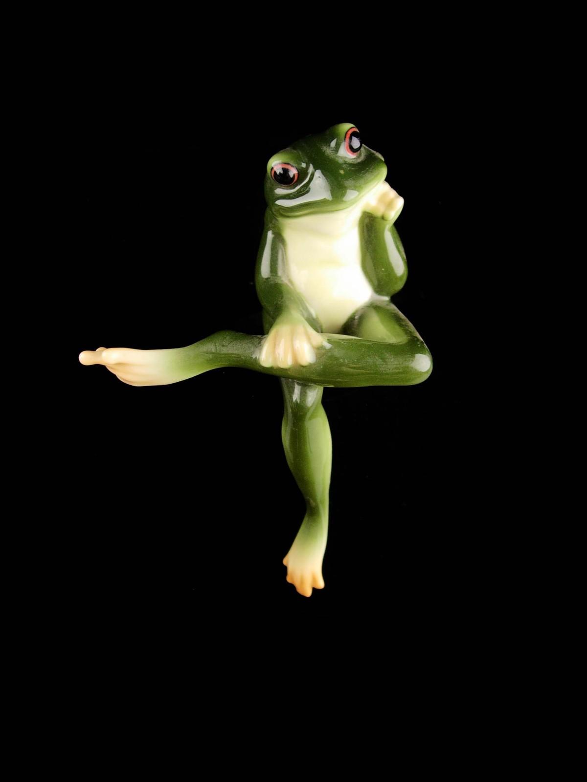 Vintage shelf sitter frog - Franz Porcelain - Figural gift - anniversary gift -
