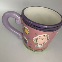 "Ganz ""It's a Chick Thing"" Ceramic Coffee Tea Mug Pink And Purple - $14.81"