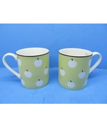 """Lenox Kate Spade Wickford Orchard Accent Set Of Two 3 1/2"""" Coffee Cups EC - $48.02"""