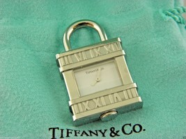Tiffany & Co Atlas Numeral Watch Padlock Watch Pendant For Necklace - $489.03