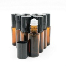 8pcs Amber 5ml Roll on Thick Glass Fragrance Bottle Lot Essential Oil St... - $11.87