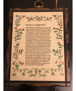 What is a Friend framed plaque-vintage - $9.90