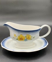 Gravy Boat With Plate By Mikasa Country Club AMY CA503 - $24.70
