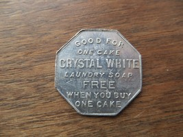 The Palmolive Co.Milwaukee Wis.Good For One Cake Of Crystal White Soap Token - $14.20