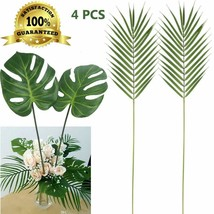 Artiflr Faux Palm Leaves With Stems Artificial Tropical Plant Imitation ... - $14.84+