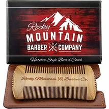 Beard Comb - Sandalwood Natural Hatchet Style for Hair - Anti-Static & No Snag,  image 4