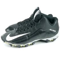 Nike Alpha Shark 2 3/4 Black Anthracite White Football Cleats US 8 UK 7 EU 41 - $17.59