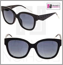 CHRISTIAN DIOR VeryDior 1N Shiny Black SIlver Gradient Square Sunglasses... - $255.72