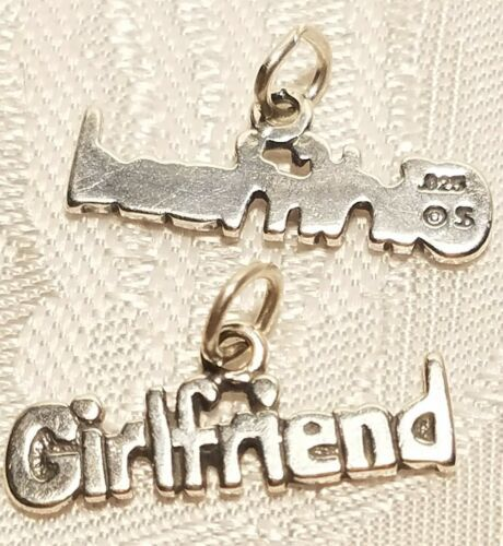 GIRLFRIEND WORD STERLING SILVER CHARM 925 PENDANT