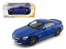 2012 Mercedes SL 63 AMG Blue 1/18 Diecast Car Model by Maisto - $43.99