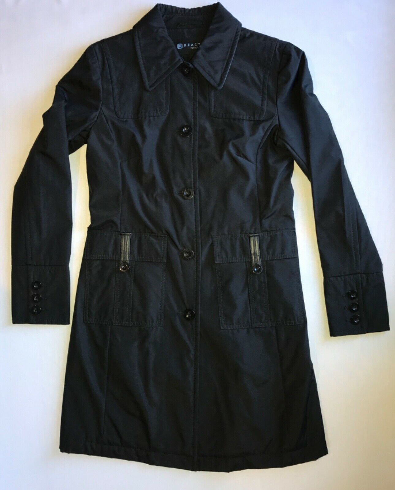 Primary image for Reaction by Kenneth Cole Chelsea Fitted Nylon Trench Coat in Small