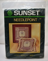 "Vintage 1984 Lace Ribbons Needlepoint Kit by Sunset - 12"" x 12"" Pillow o... - $33.20"
