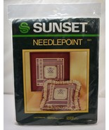 """Vintage 1984 Lace Ribbons Needlepoint Kit by Sunset - 12"""" x 12"""" Pillow o... - $33.20"""