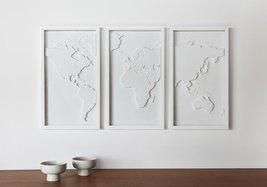 Umbra Mapster Framed Wall Art, Set of 3 - $80.00
