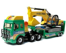 Daesung Toys Melody Shovel Trailer Truck Forklift Car Vehicle Construction Toy