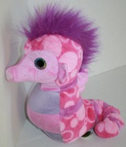 "Wild Republic Plush Stuffed Animal SEA HORSE 12"" Pink Purple Soft Toy K&... - $13.94"