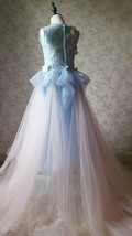 Light Blue Lace Flower Girl Dress Short Pencil Blue Birthday Party Dresses NWT image 11