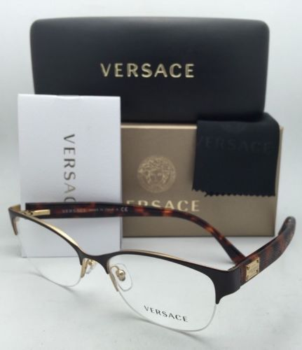 4757ff11ae New VERSACE Eyeglasses 1222 1344 53-17 Gold and 50 similar items. 12