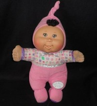2008 Cabbage Patch Kids Baby Pink Pajamas Brown Hair Stuffed Animal Plush Doll - $24.87
