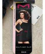 NWT Smoother Shaping Slip By Maidenform Multi-Way Straps--Medium-Black - $14.84