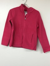 AMAZON ESSENTIALS FULL ZIP DARK PINK FLEECE JACKET GIRLS XL GREAT CONDITION - $9.74