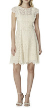 NWT Womens Tahari ASL Ivory Flutter Cap Sleeve Lace Illusion Dress Sz 14 - $49.49
