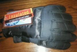 Youth Ski Black Gloves Sledding Warm Insulated One Size reinforced Thumb... - $192,39 MXN