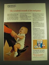1966 Gerber Baby Food Ad - The wonderful rewards of fun and games - $14.99