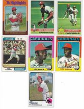 Vintage 1970's Topps Baseball St. Louis Cardinals 16 Card Lot image 3